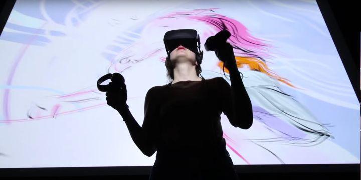 VRで絵を描く